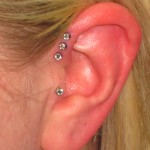 triple helix (1) Pierced by Eric at Living Canvas Tattoo
