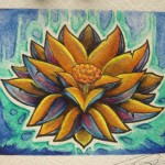 lotus watercolor